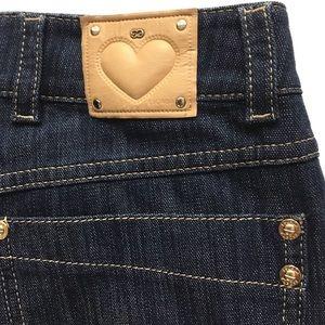 Escada dark wash wide leg jeans made in Turkey 34